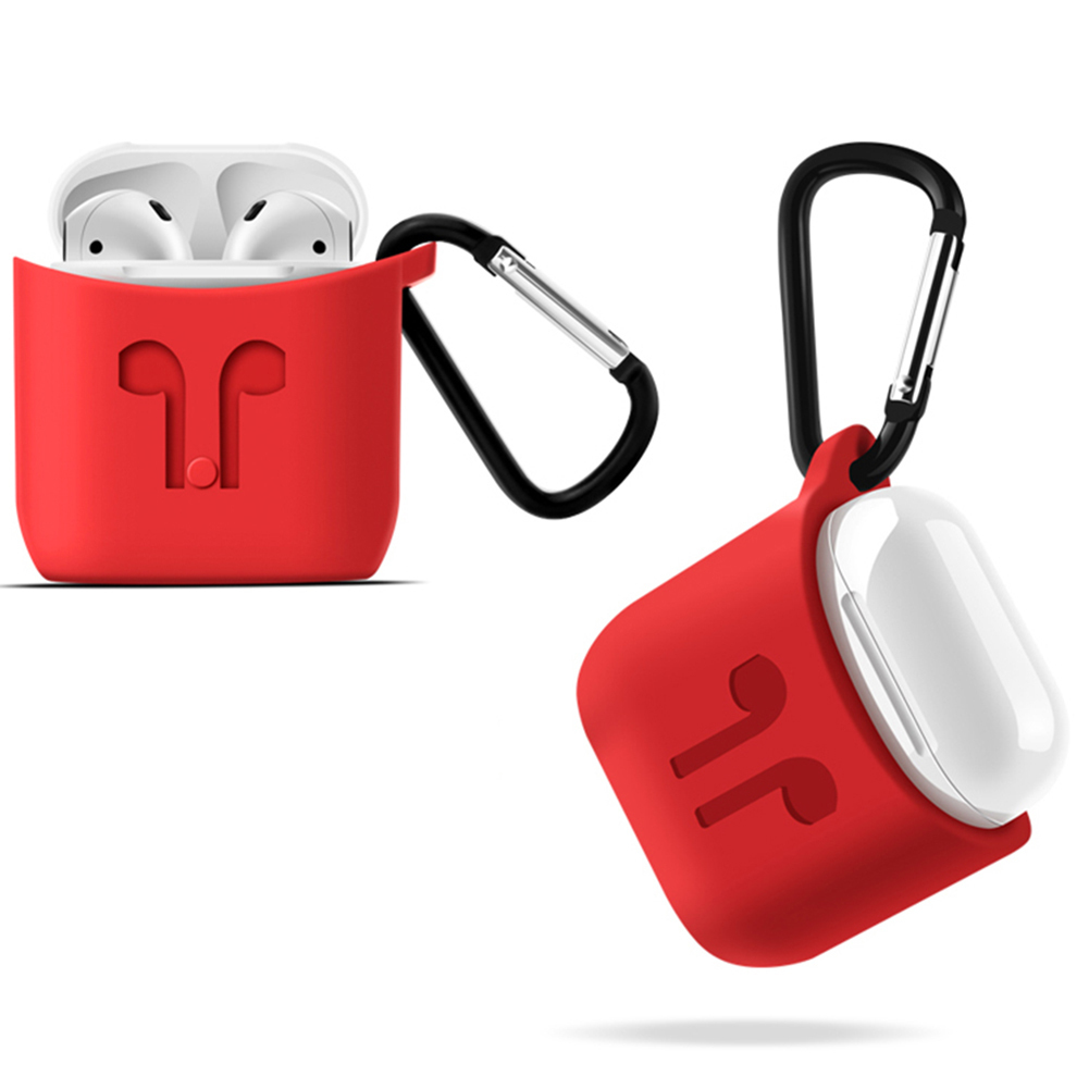 Thickened Protective Cover Silicone Dust-proof Wireless Bluetooth Earphone Protective Anti-lost for Apple Airpods Ear Pods Buds