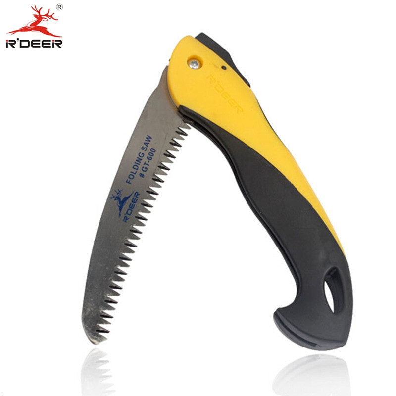 Folding Handsaw Plastic Handle Saw 350mm Three Sides Grinding Teeth Waist Hand Saws Pruning Gardening Woodworking  Tools<br><br>Aliexpress