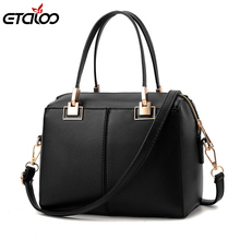 Women's bag 2017 new simple women's handbag European and American fashion shoulder bag Messenger bag manufacturers(China)