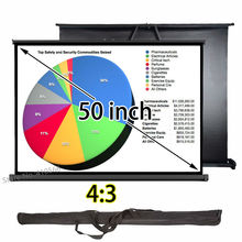 High Definition Small Projection Screen 40x30inch Table Desk Floor Screens For Business Travel Meeting(China)
