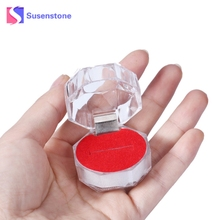 Amazing Acrylic Ring Box for Jewellery Packing Display Transparent Carrying Cases for Ring Gift Hot Sale(China)