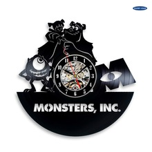 saat Monsters Inc Vinyl Record Clock Wall Art Home Decor dial vision