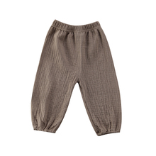 Cute Kids Baby Girl Boy Bottoms Wrinkled Cotton Retro Trousers Soft Stylish Infant Fashion Pants