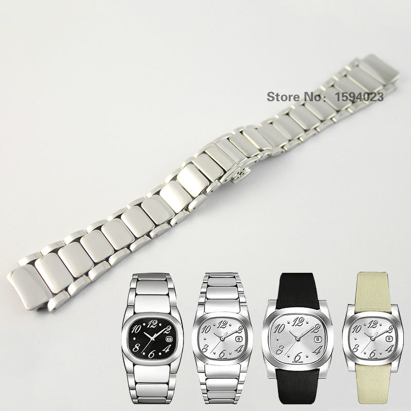 17mm T009 New Watch Parts Solid Stainless steel bracelet strap Watch Bands For T009 Free Shipping<br>