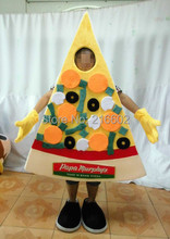 New arrival 2014 Cartoon Character Adult cute pizza Mascot Costume Fancy Dress Halloween party costume