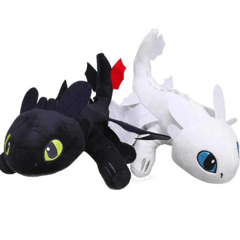 35cm/45cm How To Train Your Dragon 3 Night Fury Light Fury Plush Toy
