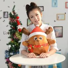 Christmas Santa Claus Plush Toys Doll Music LED Lighting Christmas Ornaments Decoration For Home Xmas New Year Kids Gift(China)