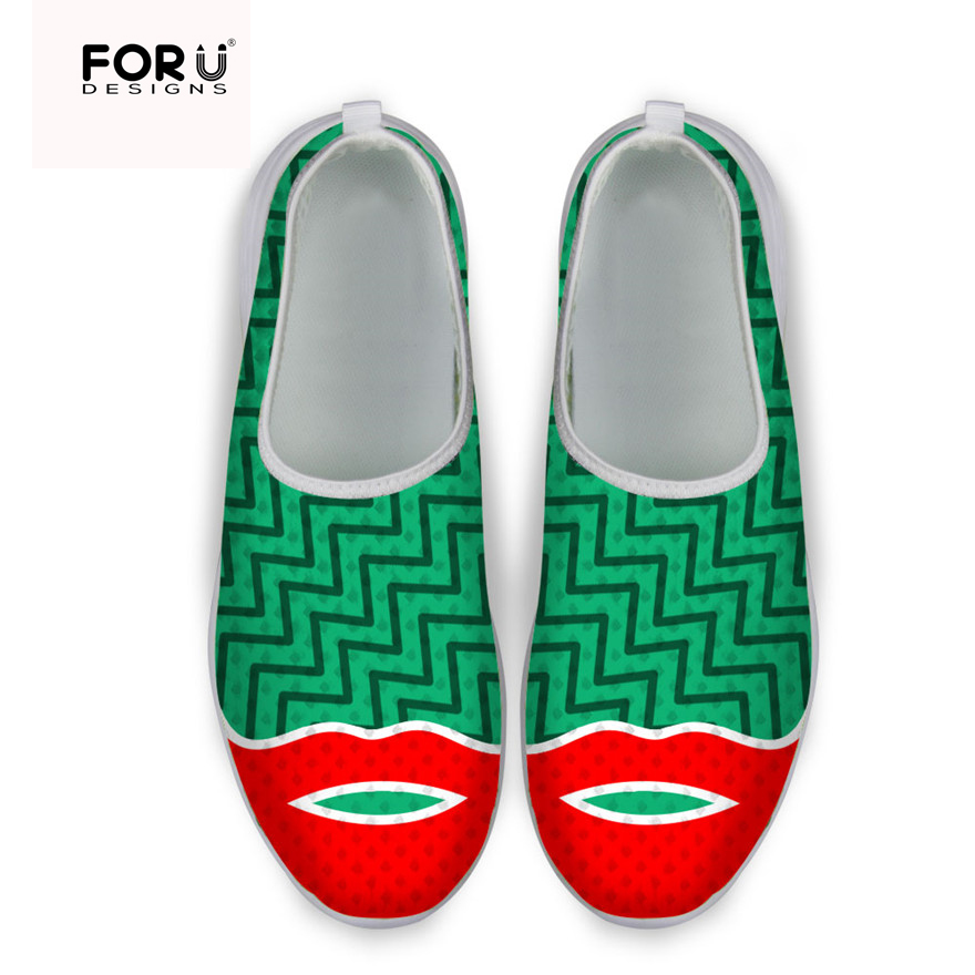 Super Light Breathable Mesh Shoes for Women Unique Printed Ladies Sport Flat Shoes Spring Summer Slip-on Casual Lazy Shoes Tenis<br><br>Aliexpress