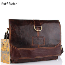 Ruff Ryder Genuine Leather Men Bag Men Messenger Bags Shoulder Crossbody Bags for Man Handbag Casual Men's Briefcases Hot Sale