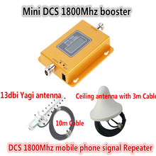 Full Set 13db Yagi + Ceiling Antenna ! LCD 4G LTE GSM DCS 1800MHZ Mobile Phone Signal Repeater Booster 4G DCS Cellular Amplifier