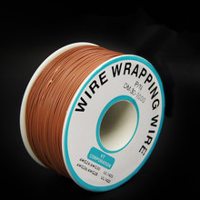 EziUsin Welding cable PCB Jumper Circuit Board 0.25mm Wire-Wrapping Electronic Wire 30AWG Cable 250m Brown