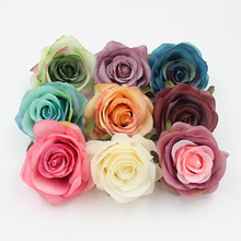 New 10 pcs 8.5cm Handmade Rose Decorative Flowers Fabric Flowers For Making,Wedding Party Festival Decoration Flower HD005(China)