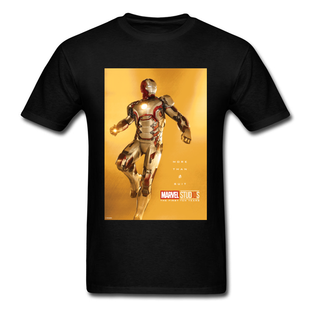 Tops Tees Marvel More Than A Suit Thanksgiving Day Short Sleeve Pure Cotton Round Neck Men Top T-shirts Casual Tshirts Prevalent More Than A Suit black