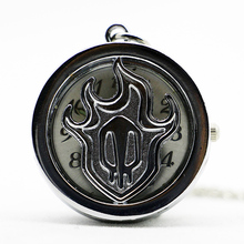 Hollow Out Vintage Antique Silver Round Butterfly Pocket Watch Pendant Necklace Small Size