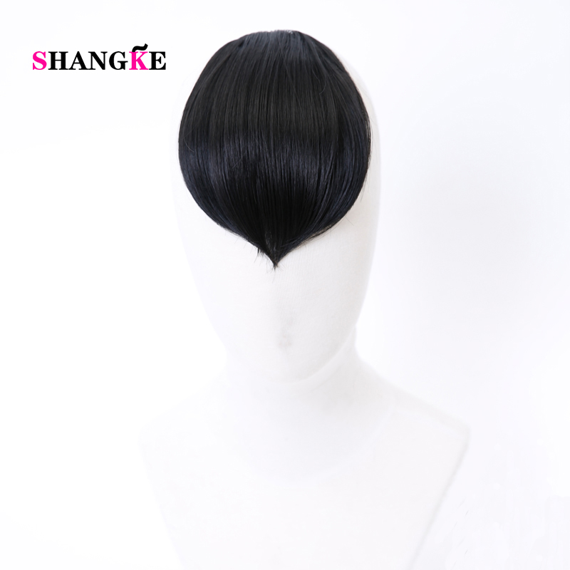 SHANGKE Natural Black Brown Bangs Costume Headdress Chinese Style Bangs Women Classical Bang Synthetic Heat Resistant Hair