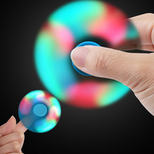 1PCS Bearing Light Fidget Hand Spinner Colorful Lighting For Autism and ADHD Finger Spinner Anti Stress Gift Toy
