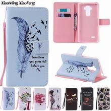Buy Capa LG G4 Stylus Case Leather + Silicone Phone Case LG G4 Stylus Cover Wallet Colored Drawing Cartoon Girls Cat Flip Case for $3.99 in AliExpress store