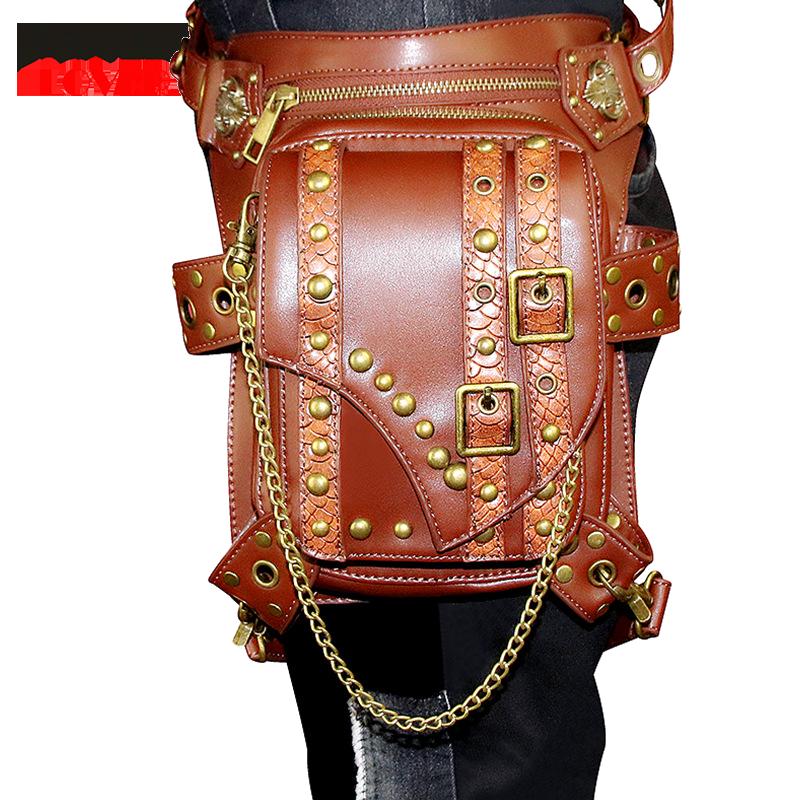 Vintage Steampunk Bag Steam Punk Retro Rock Gothic Retro Bag Goth Shoulder Waist Bags Packs Victorian Style Women Men Leg Bags