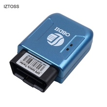 IZTOSS TK206 OBD2 GPS GPRS Real Time Tracker Car Vehicle Tracking System Geofence protect Vibration Cell Phone SMS alarm alert(China)