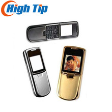 Nokia original 8800 gold cell phone English or russian keyboard with desktop charger leather case strap Freeship Refurbished(China)