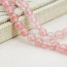 8mm Fashion Pink Watermelon Tourmaline Round Beads Ornaments Crafts Loose Beads Stone For Necklace Bracelet Women Jewelry Making