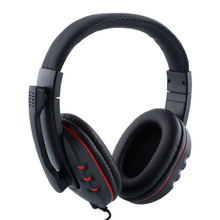 3.5 Wired Gaming Headset With Microphone Gamer player Headphones For PS4 / PC / Cell Phone Black&Red