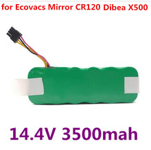 NI-MH 14.4V 3500mAh vacuum Cleaner Battery High quality Battery for Ecovacs Mirror CR120 Dibea X500 X580 kk8 battery