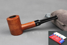 16 Tools Handmade Solid Wood Straight Smoking Pipe RoseWood Weed Tobacco Wooden Pipes 9mm Filters + Pouch + Holder DB107y