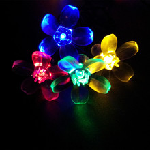 Solar LED cherry blossom tree light 12M 100Led solar string Lights For garden path/ Christmas Park Outdoor Garden La Luce solare