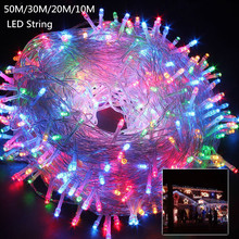 10M 20M 30M 50M LED string Fairy light holiday Patio Christmas Wedding decoration AC220V Waterproof outdoor light garland(China)