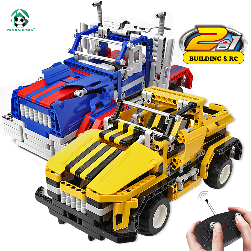 Assemble RC 2in1 Car Building Blocks Technic Bricks Remote Control Toys Truck RC Car Kids DIY Construction Toys for Boys Gift <br>