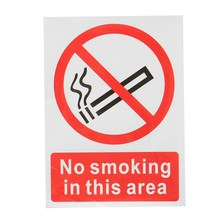 Sticker No Smoking In This Area Warning Sign Vinyl Symbol Warning Plastic Poster Promotion No Smoking Commonweal Poster Stickers