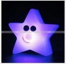 7-Color Changing Star LED Lamp Night Light Home Room Decor Party Kids Gift SMB 40614303(China)