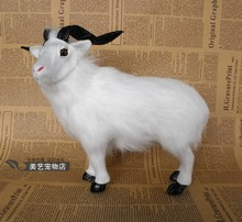 big simulation goat toy lifelike handicraft sheep gift about 33x17x28cm