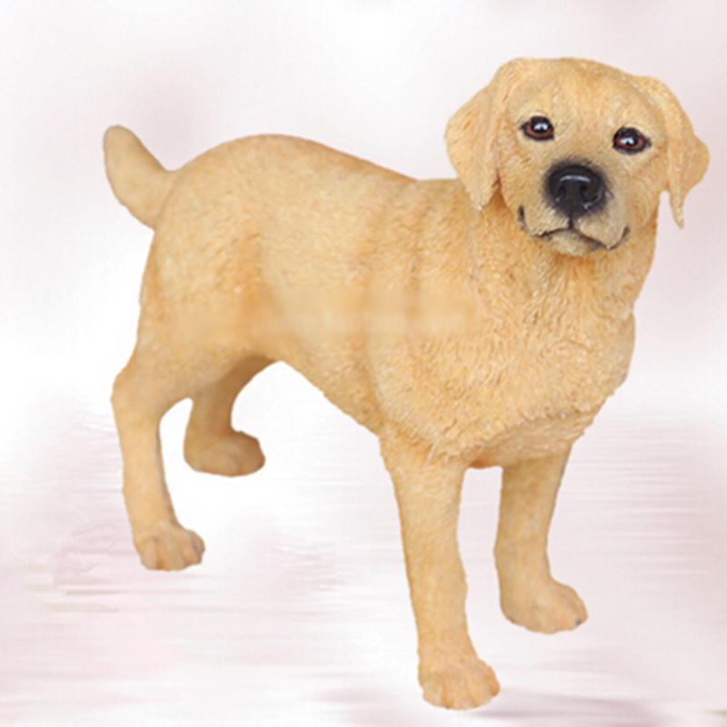Artificial resin Labrador Retriever dog figure,car styling home room decoration,labs dog decorative article Christmas gift toy<br>