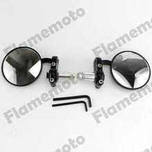 "Moto 7/8"" Black Bar End Mirrors Rearview For Honda CBR XR CRF Motorcycle Dual Sport ATV"