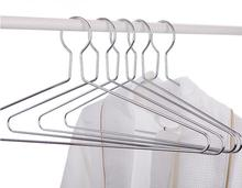 10 pcs hotel anti - theft clothing hanger laundry dedicated clothes hanging closed hook ring iron rust - proof racks