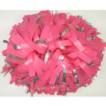 "6"" Cheerleader pompoms ( 10 pieces/lot) Surface will shine + silver laser wire Sports pompoms Color can choose Free shipping"