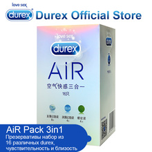Durex AiR Condom Invisible Super Sensitivity Condom Kondom Ultra Fire Penis Sleeve Addicted Sex Toys Intimate Sex Goods for Sex(China)