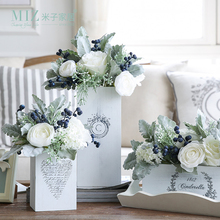 Miz 1 Piece Flower Set Multiple Style Flower Vase Cinderella Artificial Flower Set Valentine Gift Home Decoration(China)