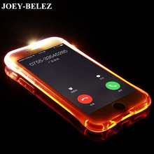 For Samsung Galaxy A3 A5 A7 2017 J1 J3 J5 J7 2016 S6 S7 Edge S8 Plus Soft TPU LED Case Flash Light Up Remind Incoming Call Cover(China)