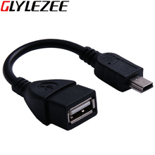 Glylezee Mini USB 2.0 OTG Adapter Conventor Cable Line for Cellphone Tablet Free Shipping