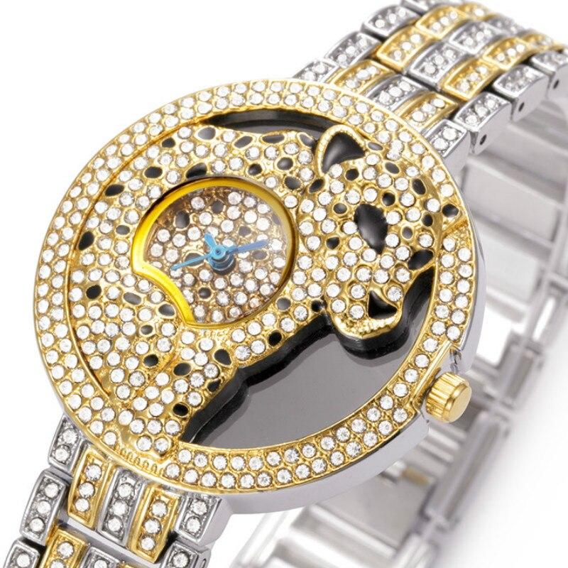 Belbin Merken Nieuwe Luipaard  Diamant Modetrends Quartz Horloge Ms. Leisure Horlogebandje Horloge Van James Bond<br>