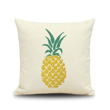 Pineapple Cushion Cover Composite Linen Pillows Sover Furniture Fabric Creative Pillow Cushions Cover Without Core