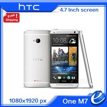 Original HTC One M7 4G LTE 801e european Andriod mobile phone sense 6.0 32GB 1.7GHz 4.7'' Unlocked Cell Phone Refurbished(China)