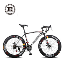 EUROBIKE 21/27 speed 700C road racing bike carbon steel frame mountain road bicicleta compete bicycle(China)