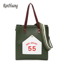 RanHuang New 2018 Women Fashion Shoulder Bags Letter Printing Messenger Bags Ladies Pu Leather Tote Bags bolsas feminina A1112(China)