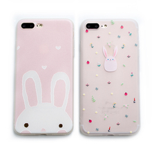 Buy Cute Rabbit 3D Relief phone Cases iphone X 7 7Plus 8 8plus Scrub Silicon Case iphone 6 6s 6plus 6splus phone back cover for $3.38 in AliExpress store