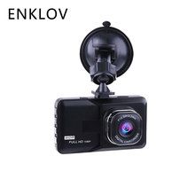 ENKLOV Car Dash Camera Driving Video Recorder With 1080P Car Camera Wide Angle Driving Recorder HD Dash Cam LCD Car-detector(China)