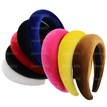 Thick Velvet Women Headbands Hair Accessories Head Band Fashion Headwear 4CM Wide Plastic Hairbands For Woman